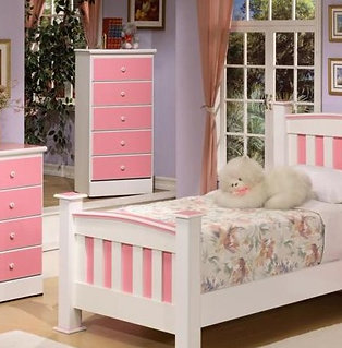 Pink & White Kids Bedroom Collection