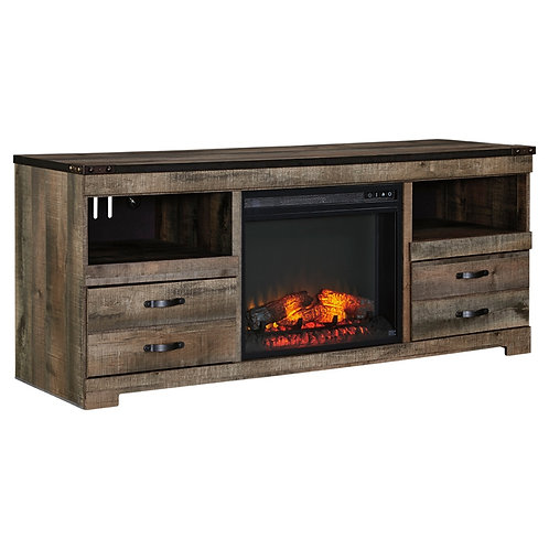 Trinell by Ashley TV Stand with Fireplace Insert