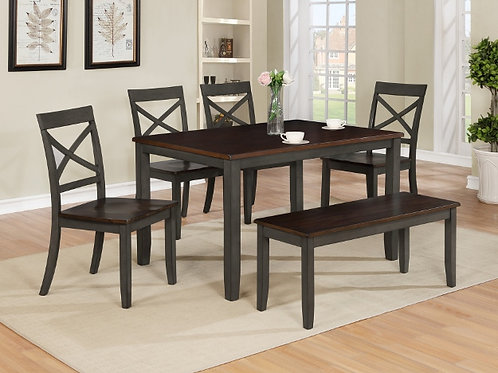 6 Piece Dining Set w/ Bench