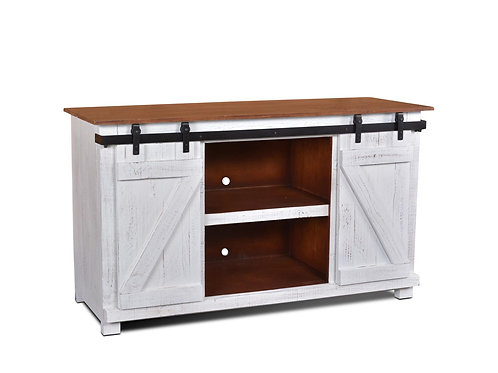 "Horizon Home Jackson 60"" Barn Door Console White"