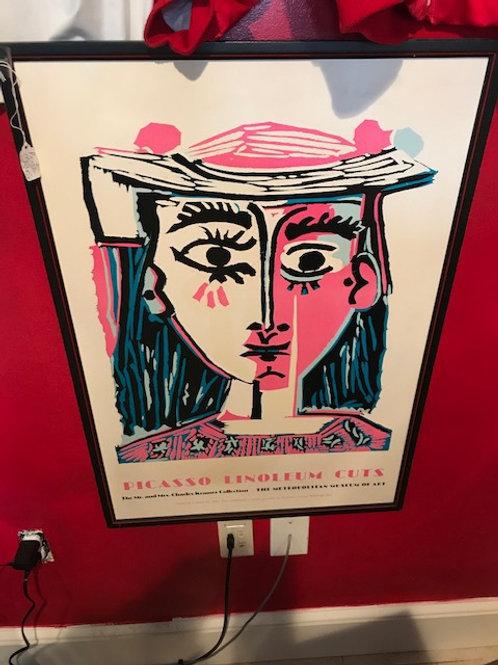 Pablo Picasso 1980's vintage Poster