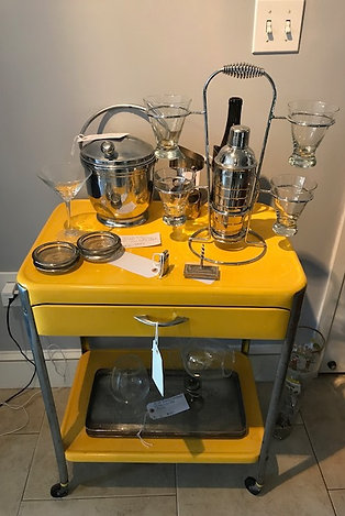 Mid Century Bar Cart Circa 1950