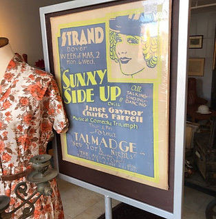 Vintage and original poster from the Strand in Dover NH