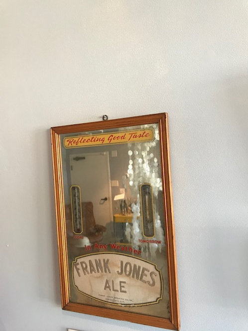 Frank Jones Brewery Vintage 1940s Advertising Mirror