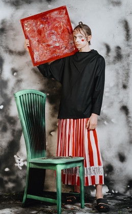 Photoshoot with my artwork for KALTBLUT Magazine  Studio183, Bikini Berlin 2021
