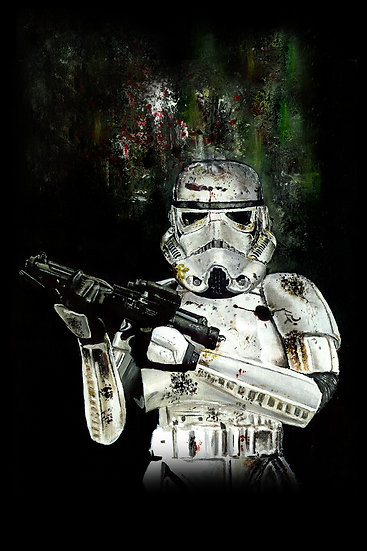 stormtrooper with gun front view