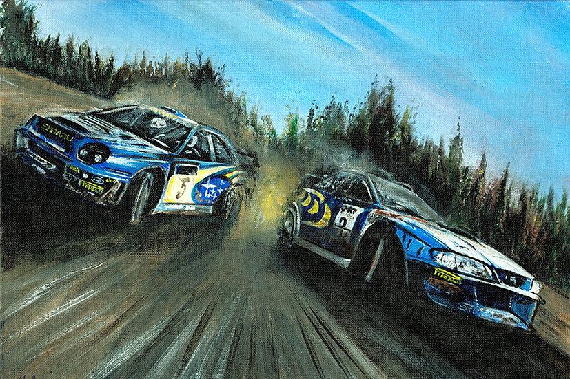 Colin McRae, Richard burns, Subaru, Impreza, racing, cars