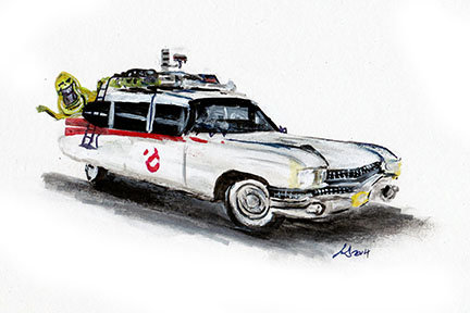 ghostbusters ecto1 1980s