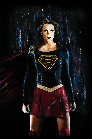 Melissa Benoist as Supergirl front view