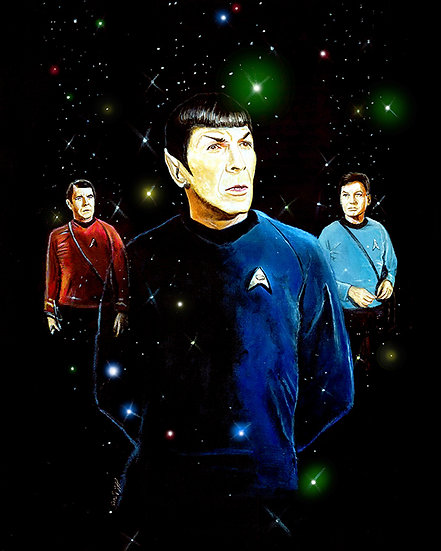 Star Trek Spock Scotty and Bones front view