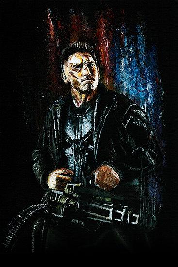 Punisher with gun, Jon Bernthal