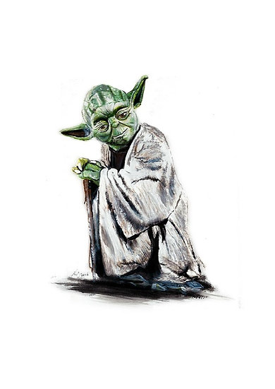 Yoda standing front view