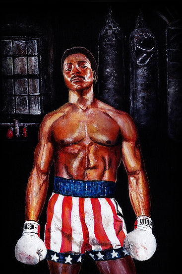 Rocky Carl Weathers as Apollo Creed front view