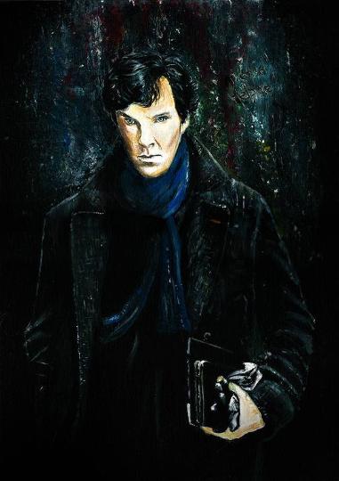 Benedict Cumberbatch as Sherlock Holmes front view