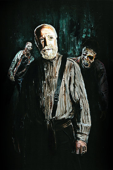 Hershel Greene walking dead with walker zombies