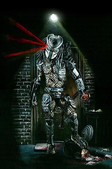 Predator alien front view
