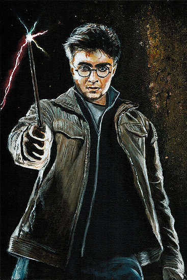 Harry Potter with Wand, Daniel Radcliffe magic