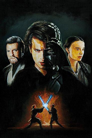 star wars, revenge of the sith, episode 3, anakin skywalker, padme, obi-wan kenobi, darth vader