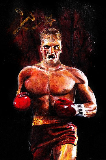 Rocky Dolph Lungren as Ivan Drago front view