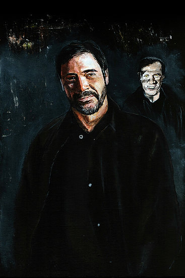 Jeffrey Dean Morgan as John Winchester with yellow-eyed demon front view