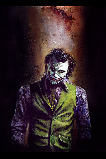 Batman Dark Knight Heath Ledger Joker front view