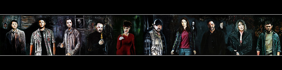 Various Supernatural characters front view