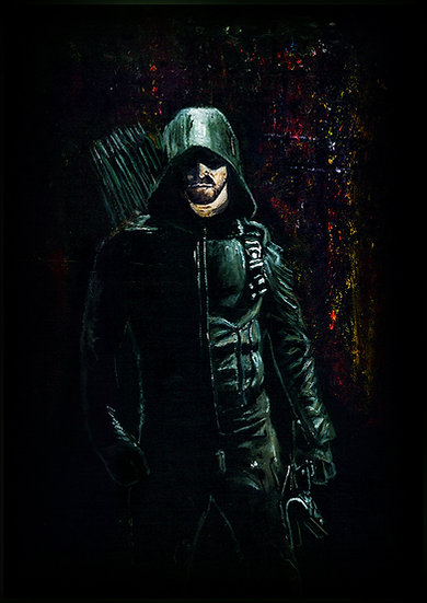 Stephen Amell as Green Arrow front view