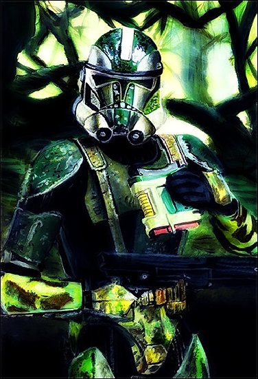 Commander Gree with trees front view