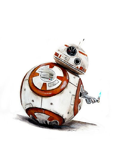 BB8 droid with lighter thumb front view