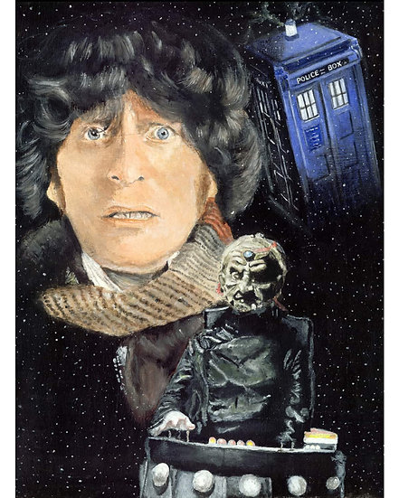 dr who, doctor, timelord, tom baker, tardis, davros, fourth doctor