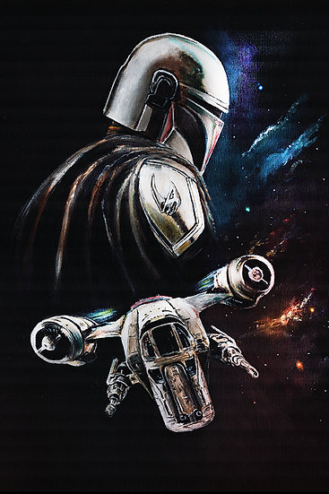 star wars, the mandalorian, bounty hunter, razor crest, space
