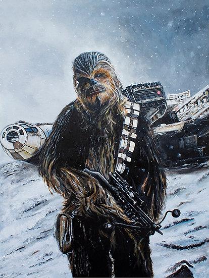 star wars, chewie, chewbacca, wookie, peter mayhew, millennium falcon, han solo, the force awakens, joonas suotamo