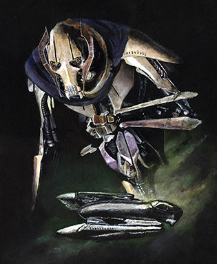 General Grievous and his ship front view