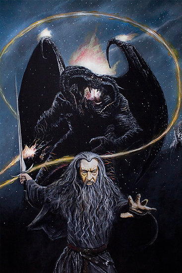 lord of the rings, gandalf and balrog