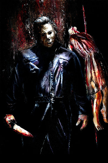 Michael Myers Halloween with knife front view