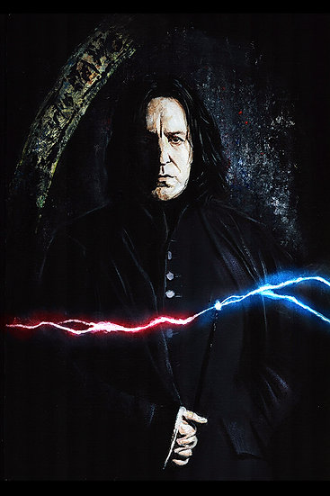 Severus Snape from Harry Potter with wand