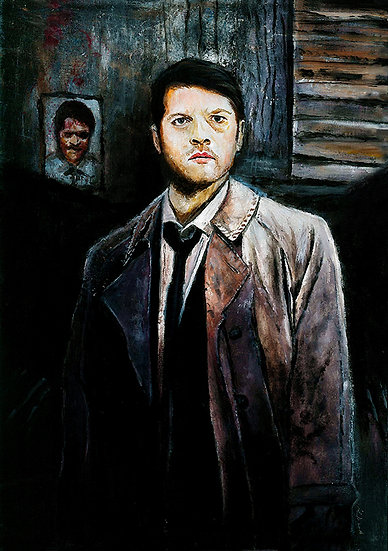 Supernatural Misha Collins as Castiel front view