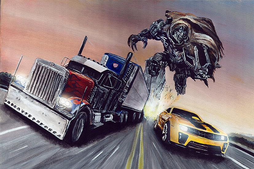 tranformers, optimus prime, bumblebee, megatron, truck, chevy