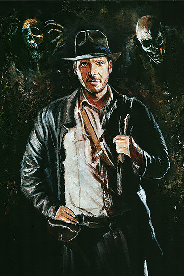 indiana jones, harrison ford, whip, hat, skeletons, ghosts