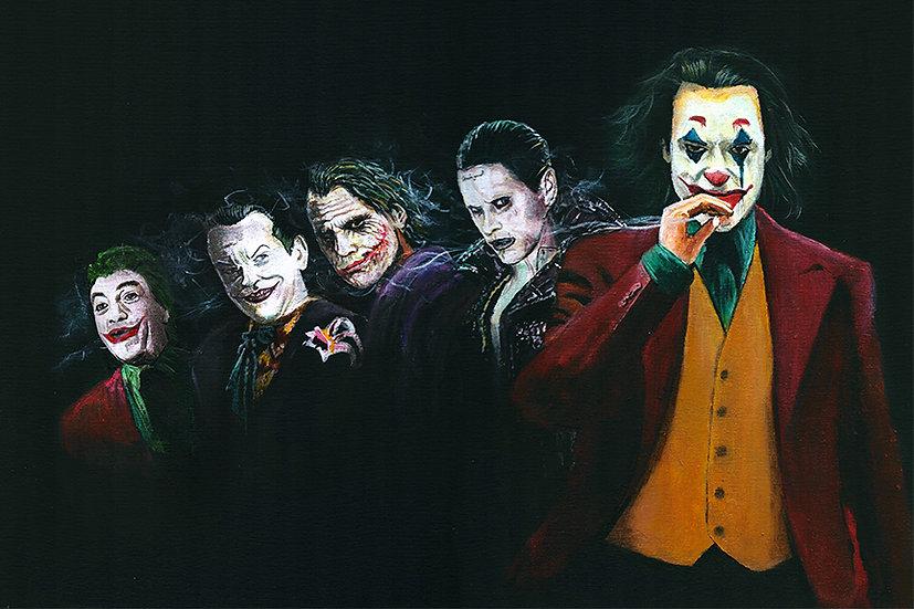 Jokers, heath ledger, Joaquin Phoenix, Jared Leto, Jack Nicholson, Caesar Romero