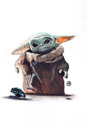 Star Wars baby yoda, the mandalorian