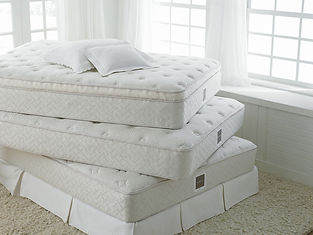 Bassett Bedding Firm Plush UltrPlush matresses in a stack