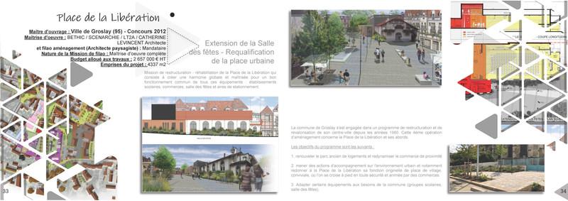 Place de la Libération à Groslay (95)