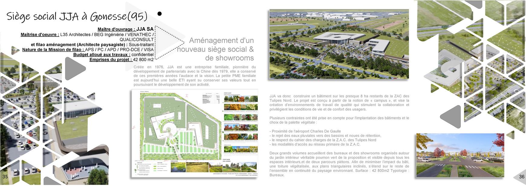 Nouveau siège social de JJA à Gonesse (95)