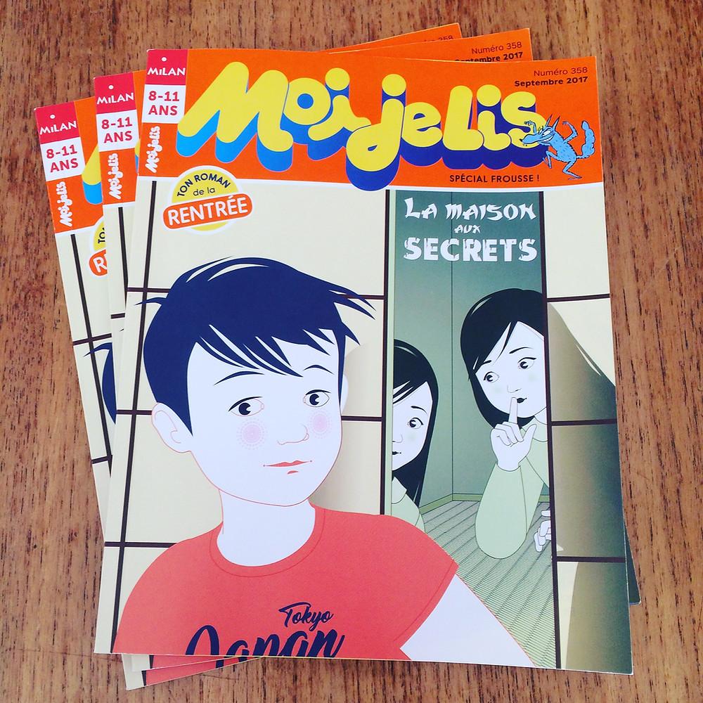 """Dans le magazine """" Moi je lis"""" de septembre 2017 !"""
