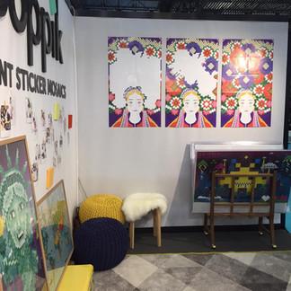 "Poppik à Maison & Objet avec mon poster "" Ukraine"""