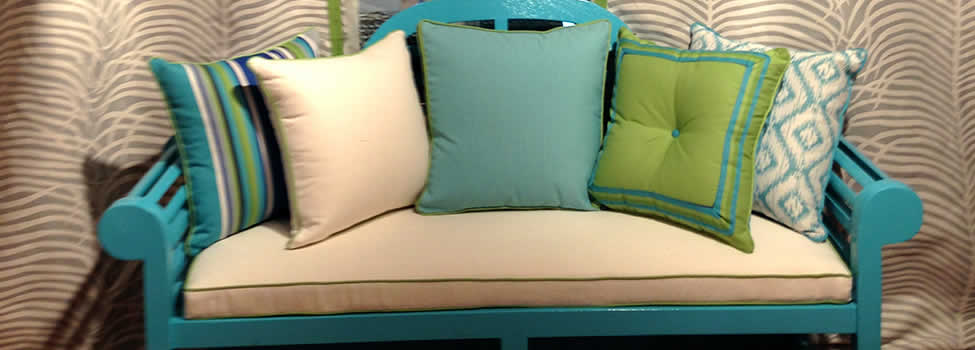 Custom Bench and Throw Pillows