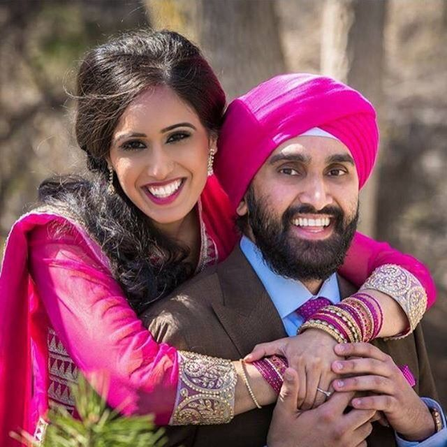 Happy wife, Happy life 💞 _Big congratulations to _arshdeep_samra and husband on their engagement 💍