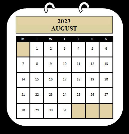 August 2023