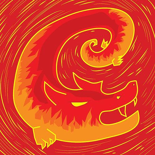 """Enter Dragon"" Heating Pain Salve © 1.5 oz."